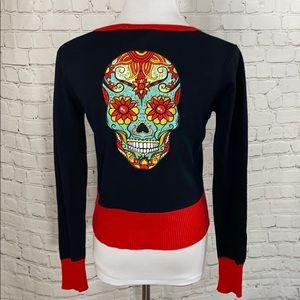 Jawbreaker Day of the Dead Sugar Skull cardigan